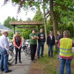 Nächste Zwischenstation an der Knemühle. Hier treffen sich die Gruppen Engel und Hilgemann.
