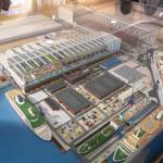 Ein Modell der Meyer Werft