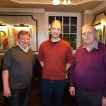 Peter Lutterbey (rechts) mit den neuen Vorstandsmitgliedern Ulrich Hölscher (links) und Philipp Fischer (mitte).