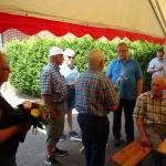 Peter bedankt sich bei Fritz Wiemann für die Gastfreundschaft
