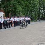 Begrüßung von Ladbergern mit ihren Oldtimer-Motorrädern